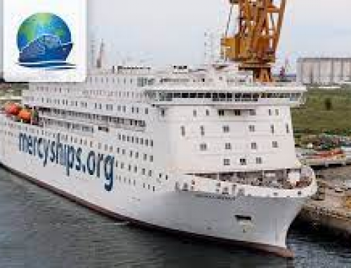 Mercy Ship's M/V GLOBAL MERCY,  World's Largest Private Hospital Ship,   Arrives in Antwerp